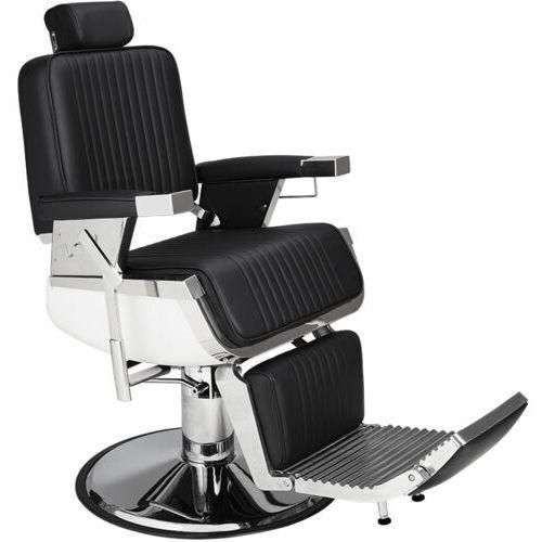 Meble fryzjerskie, Ayala LORD Fotel barberski, fryzjerski, czarny z regulacją wysokości dostępny w 48H