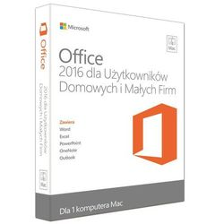 Microsoft Office Mac Home & Business 2016 EuroZone ESD PL