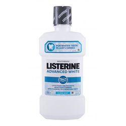 Listerine Mouthwash Advanced White Clean Mint płyn do płukania ust 500 ml unisex
