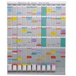 Planer z kartami T, planer roczny,12 modułów, każdy z 54 szczelinami