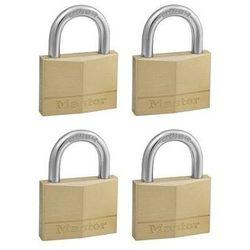 140EURQNOP Zestaw czterech kłódek otwieranych jednym kluczem Master Lock