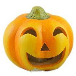 Lampion ceramiczny Dynia na Halloween - 5 cm - 1 szt.