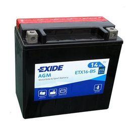 Akumulator motocyklowy EXIDE ETX16-BS/ YTX16-BS 12V 14Ah 215A EN L+
