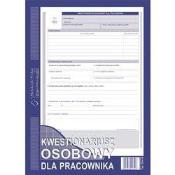 Kwestionariusz osobowy dla pracownika (OFFSET) MICHALCZYK I PROKOP A4 - G0747