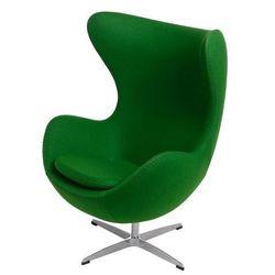 Obrotowy fotel uszak wypoczynkowy Eggi 2 - zielony