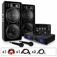 """Głośniki i monitory odsłuchowe, Electronic-Star ZESTAW dla DJ'a """"DJ-20.1"""" Wzmacniacz nagłośnieniowy Kolumna 2000 W"""