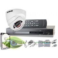 Zestawy monitoringowe, Zestaw AHD, 1x Kamera HD/IR 25m, Rejestrator 4ch + 500GB