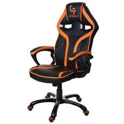 Fotel biurowy GIOSEDIO czarno-pomarańczowy,model GPR049