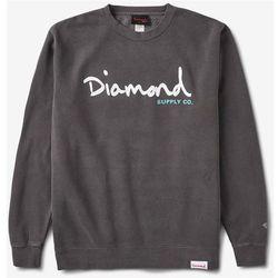 bluza DIAMOND - Og Script Pigment Overdye Crewneck Black (BLK) rozmiar: L