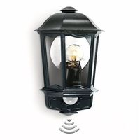 Lampy ścienne, STEINEL L 190 kinkiet zewnętrzny, czujnik, czarny