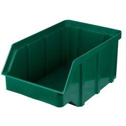 Plastikowy pojemnik warsztatowy - wym. 315 x 200 x 150 - kolor zielony