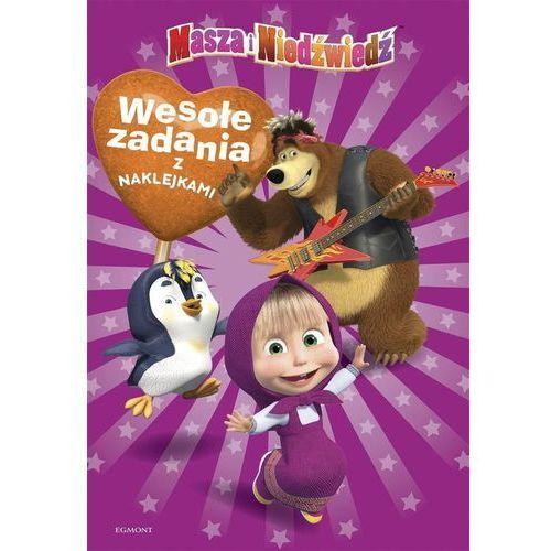 Książki dla dzieci, Masza i Niedźwiedź. Wesołe zadania z naklejkami (opr. broszurowa)