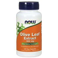 Pozostałe ziołolecznictwo, Now Foods Liść Oliwny (Olive Leaf) Extract 500 mg 60 kapsułek