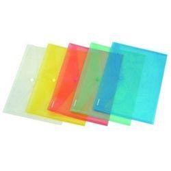 Teczka kopertowa PP na zatrzask DL w transparentnych kolorach DONAU ekologiczna