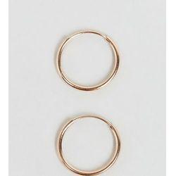 ASOS Rose Gold Plated Sterling Silver 9mm Hoop Earrings - Copper