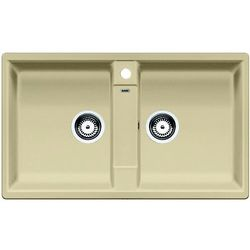 Zlew BLANCO ZIA 9 SZAMPAN z korkiem manualnym (516680) (zamów wycięcie otworów gratis)