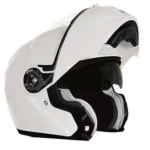 Kaski motocyklowe, KASK OZONE FLIP UP WHITE