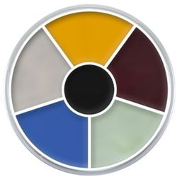 Kryolan CREAM COLOR CIRCLE (MONSTER) Kółko 6 kolorów farb Supracolor - MONSTER (1306)