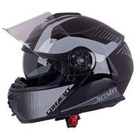 Kaski motocyklowe, Kask motocyklowy szczękowy z blendą W-TEC FS-907 + szybka, Black Matt, M (57-58)