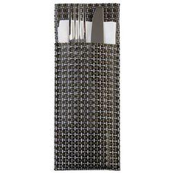 Etui na sztućce | zestaw 6 sztuk | srebrnoszare | 240x90mm