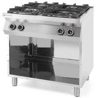 Piece i płyty grzejne gastronomiczne, Kuchnia gazowa 4-palnikowa Kitchen Line na podstawie otwartej