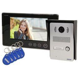 Zestaw wideodomofonowy jednorodzinny z ekranem TFT-LCD 7 cala i czytnikiem zbliżeniowym ARX N czarny OR-VID-VP-1028 Orno