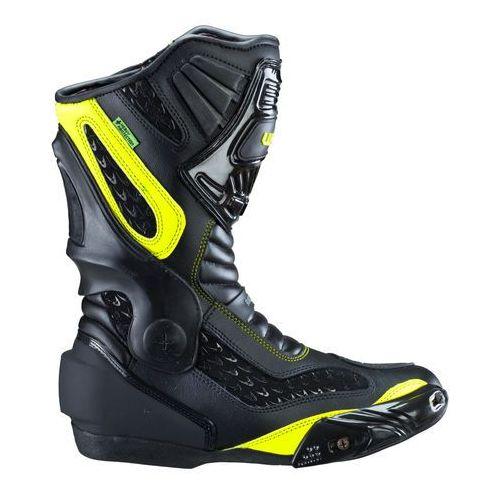 Buty motocyklowe, Skórzane buty motocyklowe W-TEC NF-6003, Zielony, 43