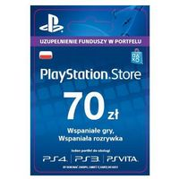 Klucze i karty przedpłacone, Sony PlayStation Network 70 zł [kod aktywacyjny]