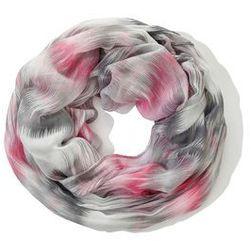 Szal koło kolorowy bonprix różowo-biały