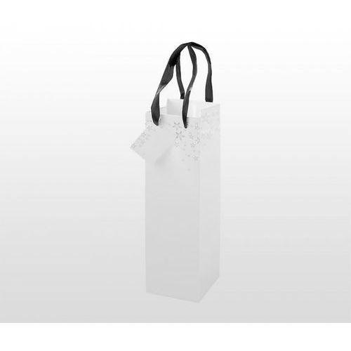 Opakowania prezentowe, Torba prezentowa na kubek, bidon, butelkę 10x10x30 cm STARS (biały)