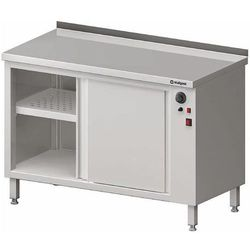 Stół przyścienny z szafką grzewczą drzwi suwane 1100x700x850 mm | STALGAST, 982187110
