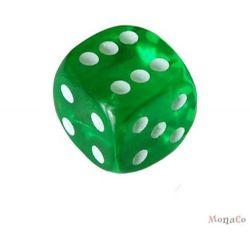 Kości do gry - oczkowe zielone Kości do gry - oczkowe zielone
