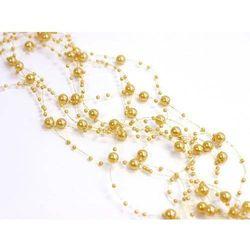 Girlanda perłowa pastelowy złoty - 1,3 m - 5 szt.