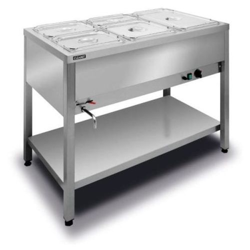Podgrzewacze i bemary gastronomiczne, Bemar elektryczny wolnostojący 3xGN1/1 (1-komorowy) BWW.3GN