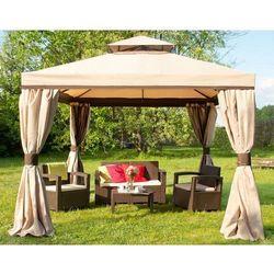 Pawilon ogrodowy z moskitierą Walencja 3x3m kremowy Garden Point