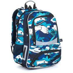 Plecak szkolny niebieski w miejskim stylu graffiti Topgal NIKI 21022 B