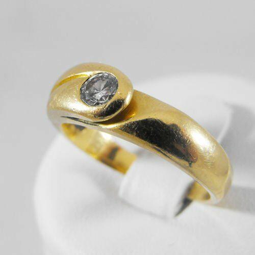 Pierścionki i obrączki, Złoty pierścionek z brylantem P1373