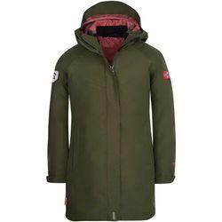 TROLLKIDS Senja 3in1 Coat Girls, oliwkowy 152 2021 Kurtki wielofunkcyjne 3 w 1