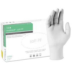 Ochronne rękawice lateksowe MaiMed Soft PF bezpudrowe, białe 100 szt - roz. XS