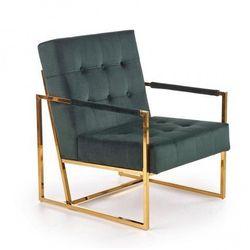 Tapicerowany fotel klubowy welurowy Verden - zielony