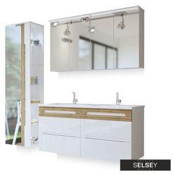 SELSEY Zestaw mebli łazienkowych Warner z lustrem duży
