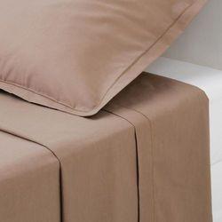 Bawełniane prześcieradło - kolor taupe, 180 x 290 cm