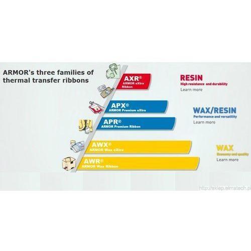 Taśmy barwiące, ARMOR taśma termotransferowa, AWR 470 woskowa, 220mm, czarny