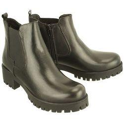 TAMARIS 25435-29 003 black leather, botki damskie