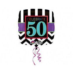 Balon foliowy 50te urodziny - pięćdziesiątka - 43 cm