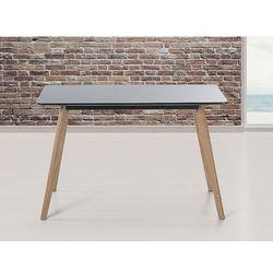 Stół do kuchni, jadalni lub salonu - czarny - 120x80 cm - FLY
