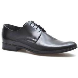 Pantofle Pan 952 Czarne licowe