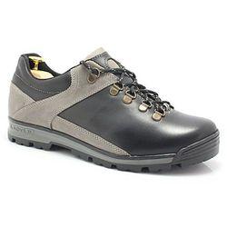 KENT 290 CZARNY-SZARY Trekkingowe buty męskie ze skóry - Szary ||Czarny WYPRZEDAŻ -30% (-30%)