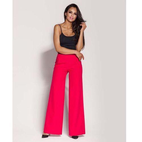 Spodnie damskie, Malinowe Spodnie z Szerokimi Nogawkami