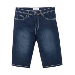 """Miękkie bermudy dżinsowe ze stretchem Regular Fit bonprix ciemnoniebieski """"stone"""